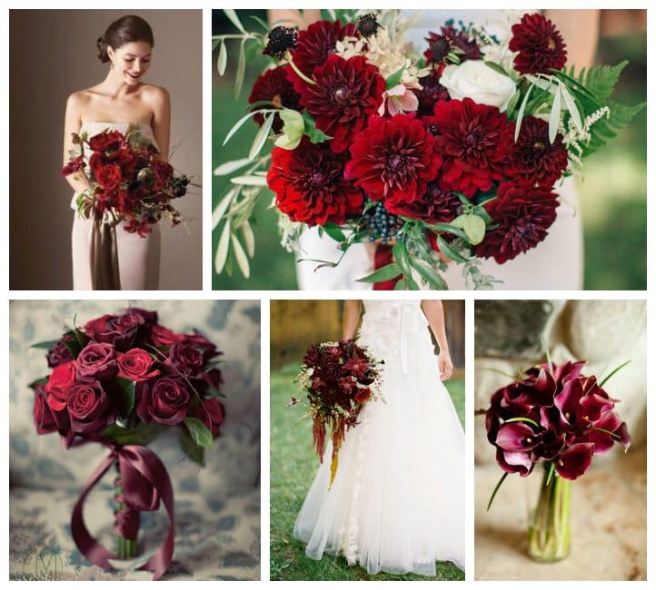 Букет невесты в красно золотых тонах, свадебный букет невесты 1000 руб