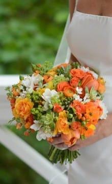 Оранжевый букет невесты: фото и варианты оформления