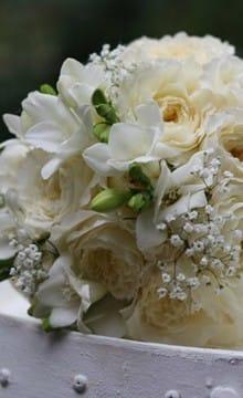Свадебный букет из пионовидных роз: фото и идеи оформления