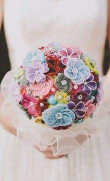Необычные свадебные букеты: фото и идеи