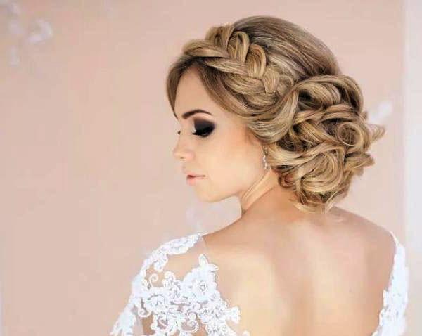 Свадебные прически фото на средние волосы в домашних условиях 463