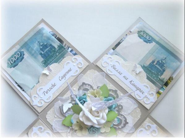Красиво оформить подарок денег на свадьбу 36