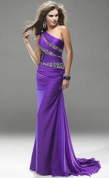 Фиолетовое свадебное платье: выбор фасона и аксессуаров