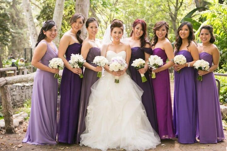 Лиловое платье для подружки невесты