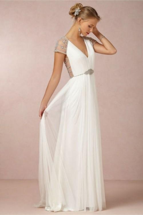 Свадебные не белые платья простые