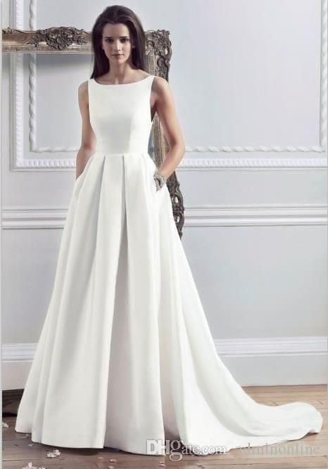 платья свадебные простые фото