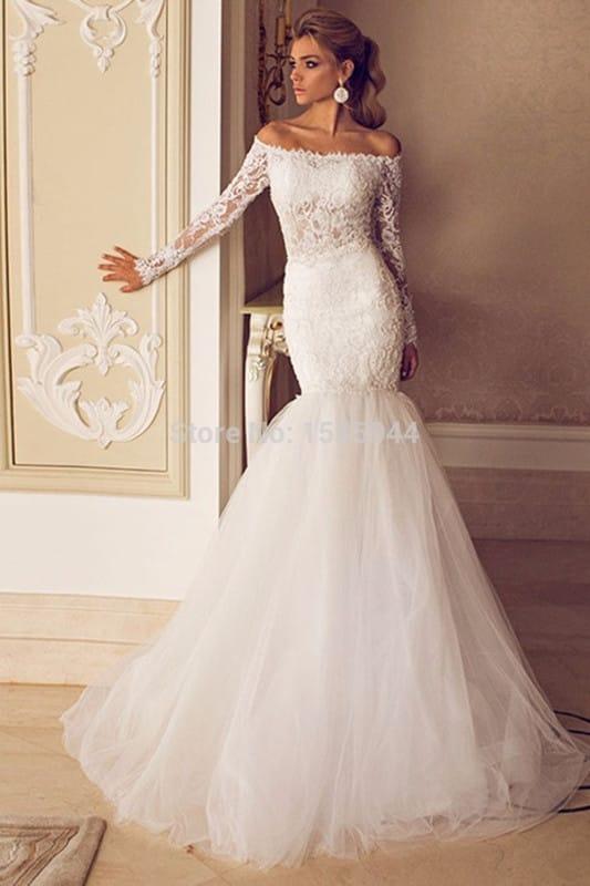 Свадебное платье русалка силуэта