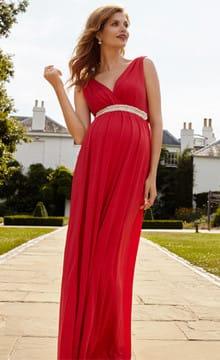Вечерние платья для беременных на свадьбу: фото и идеи фасонов
