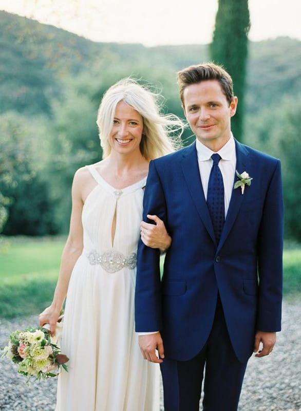 Синий костюм жених