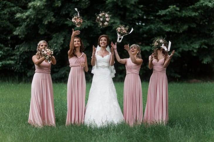 Платья-трансформеры для подружек невесты