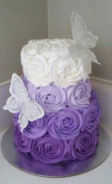 Сиреневый свадебный торт: фото и идеи оформления