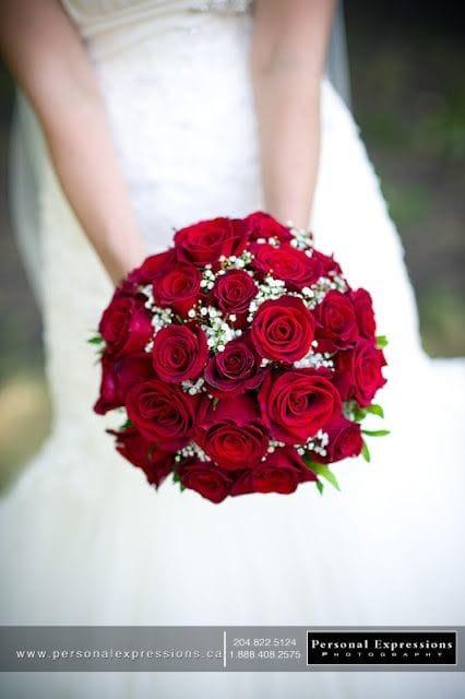Свадебный букет фото из роз красных