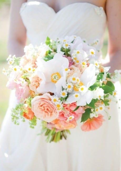 Свадебный букет из ромашек фото