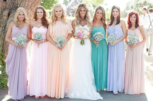 платье на свадьбу для подружки невесты сшить
