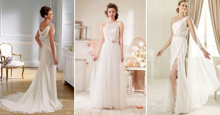 Жемчужный цвет свадебного платья