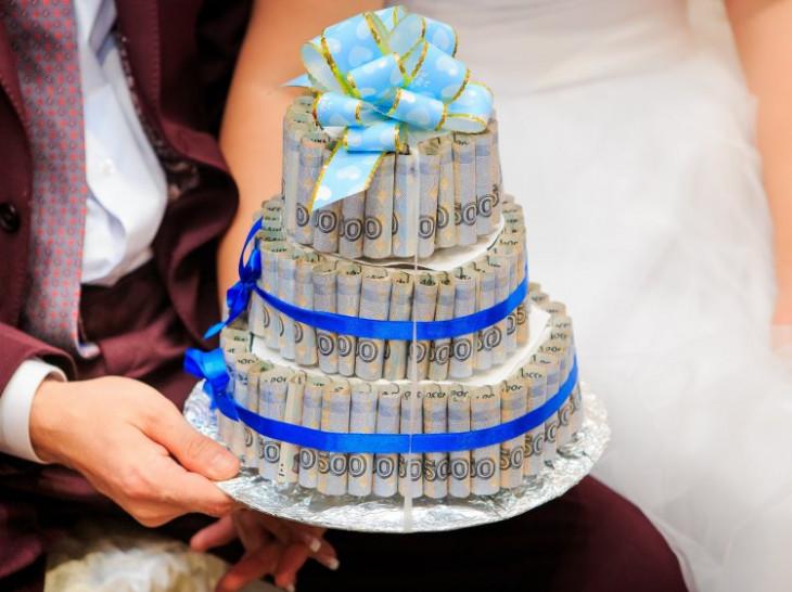 Оригинальное поздравление на свадьбу виде подарка