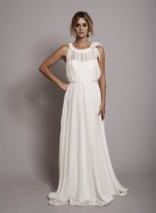 db1eceaf16c Простые свадебные платья  особенности кроя и идеи фасонов