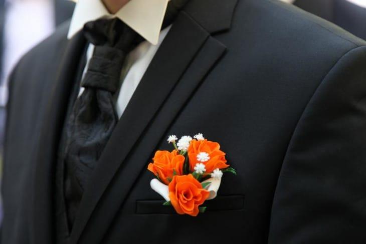 140827163311 Бутоньерка из фоамирана для жениха своими руками